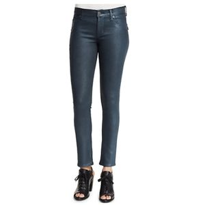 EUC Hudson MidRise Ankle Lilly Skinny Coated Jeans